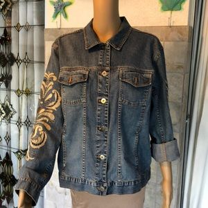 Chico's Embroidered Denim Jacket